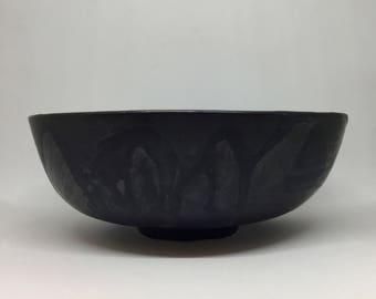 Black stoneware black bowl salad bowl in stoneware, poke bowl hand made