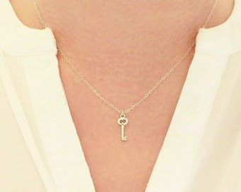 Key Necklace + Skeleton Key Necklace + Silver Necklace + Everyday Necklace + Minimal Modern and Me + Minimal Modern & Me + M3