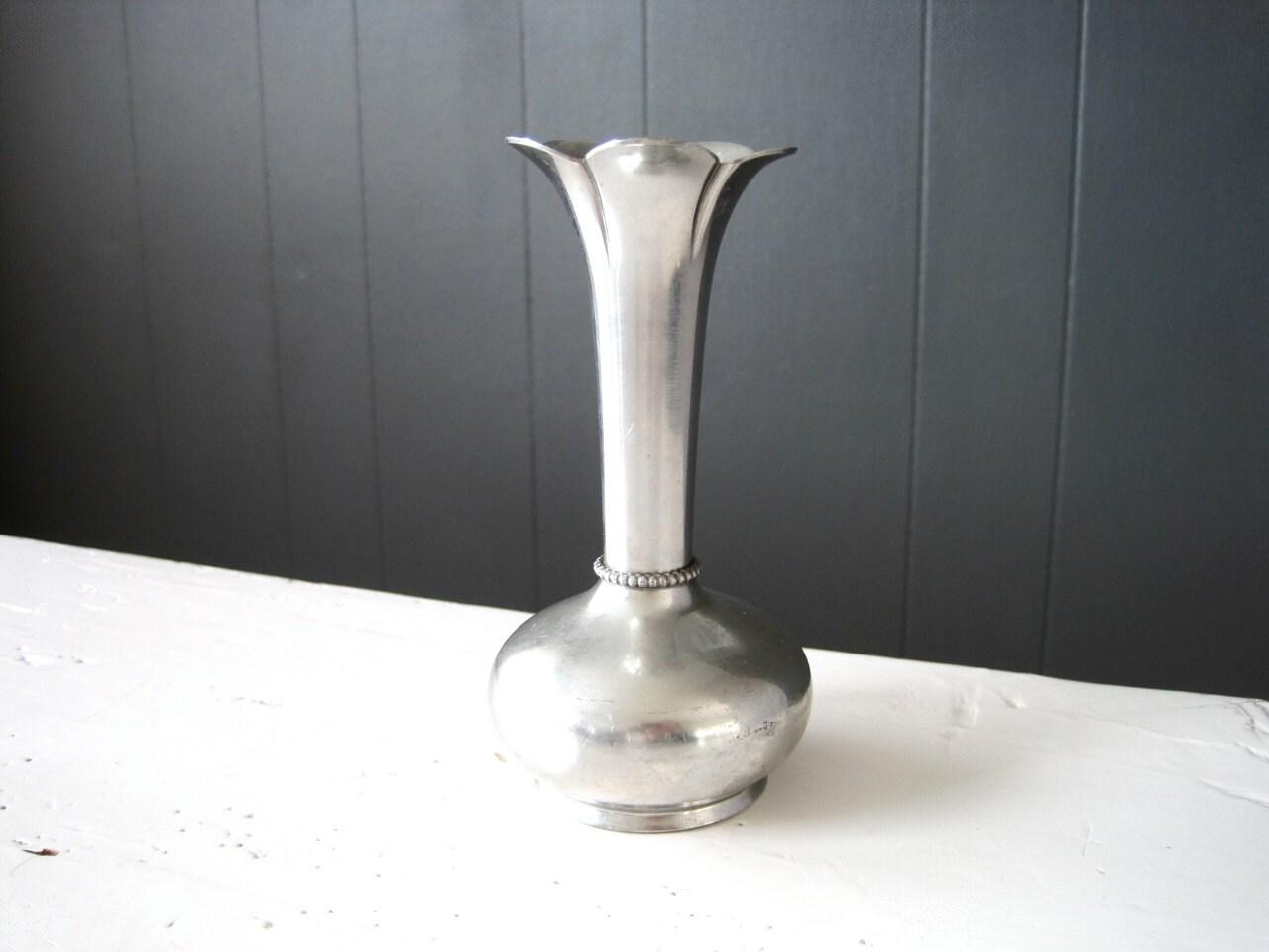 Vintage brdene mylius pewter vase small vase by bm tinn of description lovely small pewter vase reviewsmspy