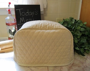 Khaki 2 Slice Toaster Cover Cozy Kitchen Storage Small Appliance Covers Made to Order