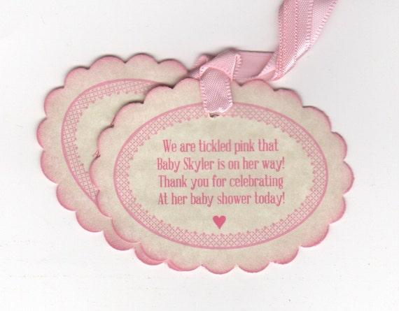 20 Baby Shower Tags Baby Girl Nail Polish Favor Gift Tags