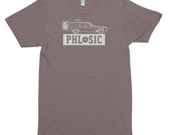 PHL to SIC tee - Soft fit, American Apparel Tri Blend Track Tee