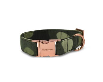 MILITARY collar with Rosé gold clasp