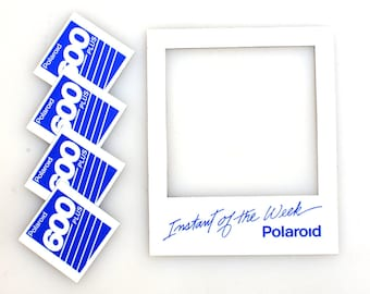 Polaroid 600 Magnetic Picture Frame with 4 Small Magnets, Set of 4