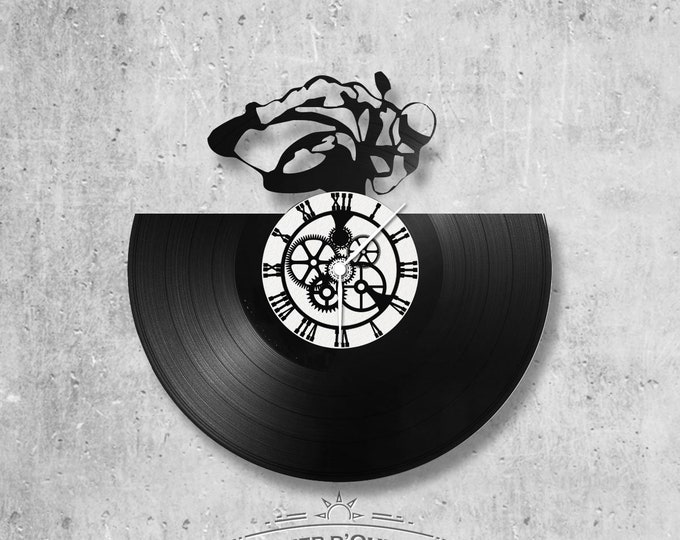 Vinyl 33 clock towers motorcycle theme