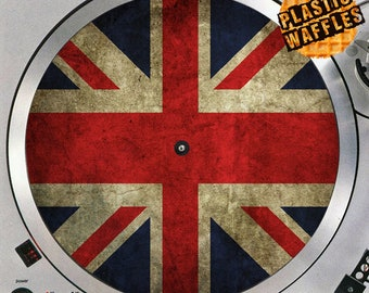 British Flag Union Jack #1 Union Flag 12 inch Slipmat Turntable Vinyl Audiophile DJ DJing 16 oz. x1