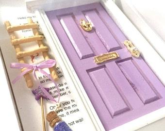 Fairy Door, Tooth Fairy Door, Magical Fairy Door, Fairy Garden, Lavender, Fairy Door Kit, Ann Arbor Door