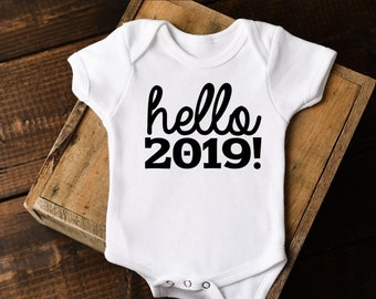 New Year Onesie®, Happy New Year Onesie, hello 2018, Baby New Year shirt, First New Years Onesie, New Years baby, New Years Outfit,