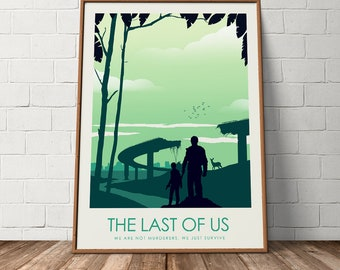 The Last of Us Game Art Poster Print, Travel Poster, Video Game Poster, Minimalist Art Print, Games Room Poster, Prints, Wall Art