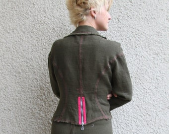 Eco friendly women linen jacket