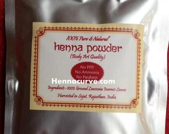 Hair & Body Henna 100gms Artisan Rajasthani Henna powder - Triple Sifted - 2017 crop - 100 / 500 / 1 kg avalaible