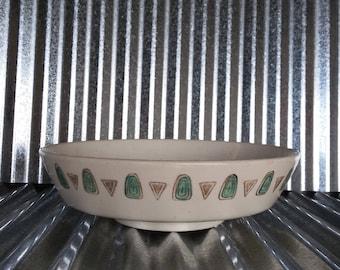 Vintage Metlox Poppytrail Navajo Vegetable Bowl-Vintage Metlox Pottery-Vintage Poppytrail-Navajo Pattern Pottery-Midcentury Metlox