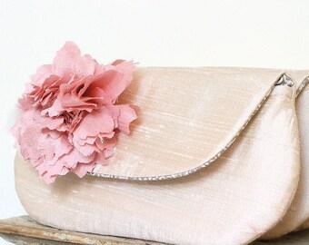 Bridesmaid Clutch. Blush Wedding Clutch. Champagne Clutch. Neutral Wedding Clutch. Pink Bridesmaid Clutch. Personalized Clutch. Wedding Gift