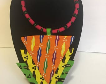 African  Print necklace
