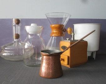 Turkish Coffee - Copper Coffee Maker - Vintage Coffee Maker - Coffee Maker - Old Coffee Maker - Vintage Turkish Coffee - Handmade Coffee