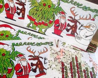 Creepy Cthulhu Christmas Holiday Cards