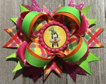 Goofy Hair Bow, Neon Goofy Bow