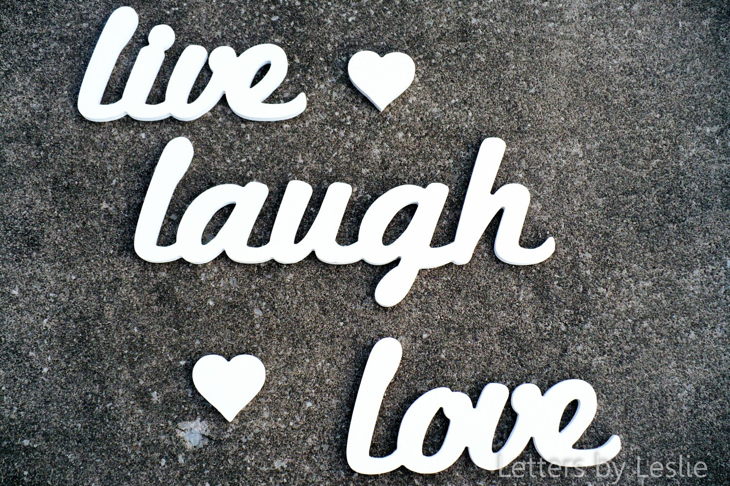 Cursive Wall Letters Wooden Wall Letters Wall Words Live Laugh Love Wall Decor
