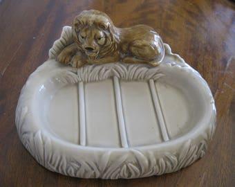 Lion Figural Soap Dish