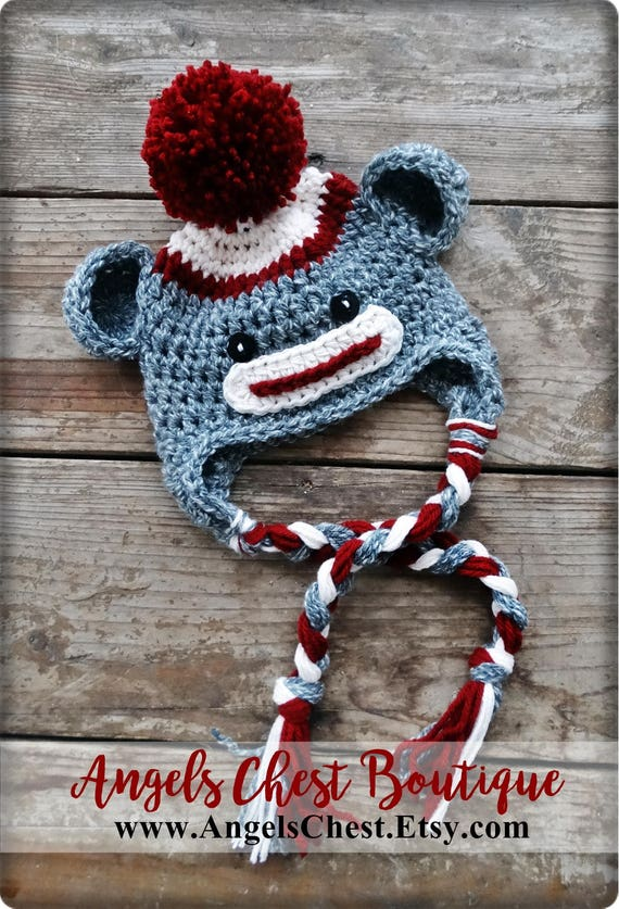 Crochet Pattern Sock Monkey Hat By Angelschest Includes