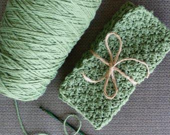 100% Cotton Dishcloths (Sage), Crochet Dishcloths, Cotton Crochet Dishcloths