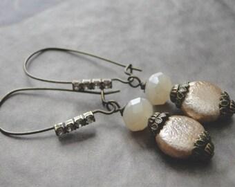 LAST CALL SALE Handmade Earrings  / Avant Guard Style Earrings / Genuine Pearl Earrings / Women's Jewelry / Women's Earrings / Accessories