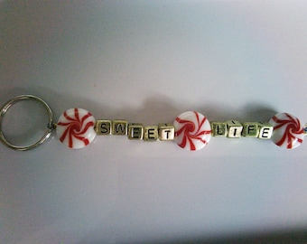Sweet Life beaded keychain