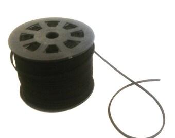 1 meter of 3 mm Black Suede cord