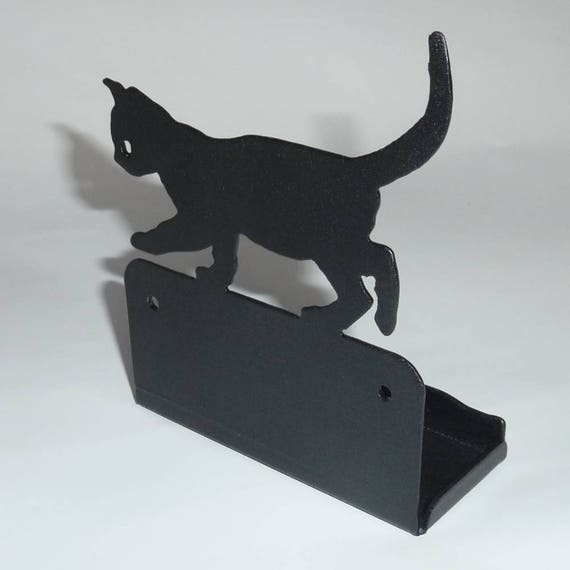Cute cat kitten metal business card holder office desk cute cat kitten metal business card holder office desk decoration colourmoves