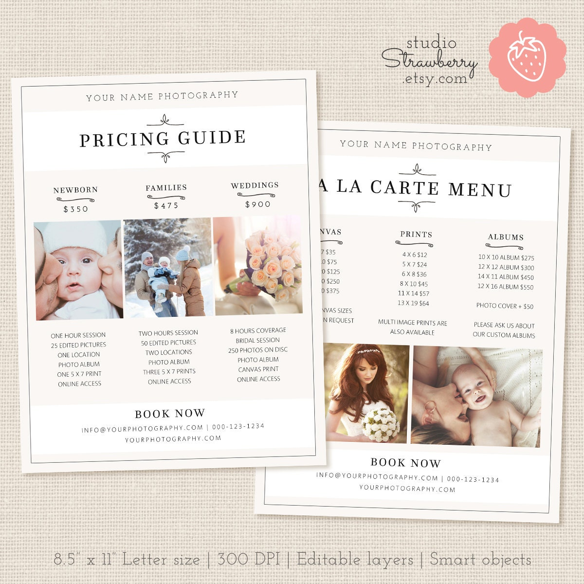 pricing list template