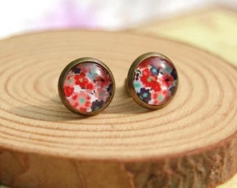 Flowers and more flowers studs