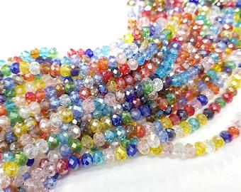 6mm Briolette Crystal Strands - Rainbow