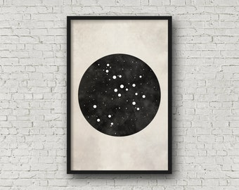 Sagittarius Constellation Art, Art Print Poster, Wall Art, Sagittarius Art, Zodiac Constellation, Zodiac Sign, Zodiac Art, Zodiac Print
