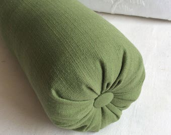 Olive bolster  lumbar accent throw pillow s 6x14 6x16 6x18 6x20 6x22