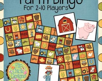 Printable Farm Bingo Game
