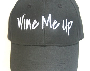 Wine Me Up (Polo Style Ball Black with White Stitching)