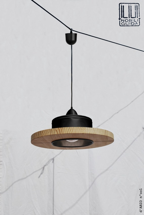 Hanging / Ceiling lamp / Pendant light, matte black.... ECO-friendly: recyled from big coffe can !