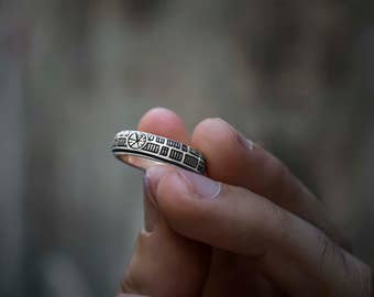 Death Star Ring in Sterling Silver.