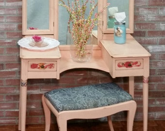 Vanity Table Painted Furniture Shabby Chic Antique
