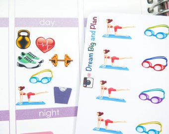 Fitness Planner Stickers! DBP111