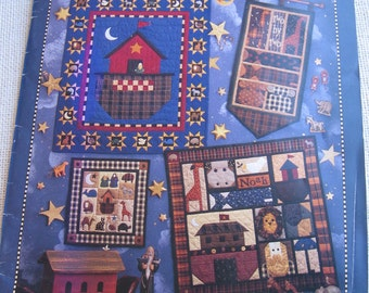 Debbie Mumm Quilting Book / All Things Noah / Quilting Patterns / Vintage 1995 / Paperback Quilt Book / Noah's Ark Quilts / Wall Hangings