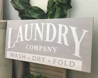 Fun Laundry Sign perfect for your Farmhouse Decor, Rustic Home Decor, or Country Decor with Customizes Colors to fit your laundry room perfe