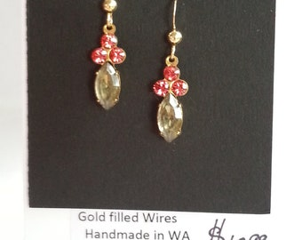 Vintage Swarovski, Gold Filled wires