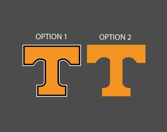 Tennessee Vols - Power T - Full Color - Die Cut Decal