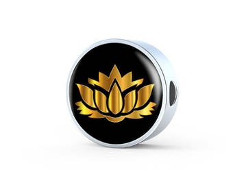 Golden Lotus Flower - Luxury Charm