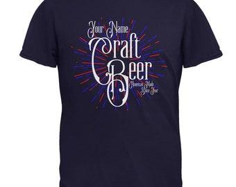 Custom Name Craft Beer American Made Mens T Shirt