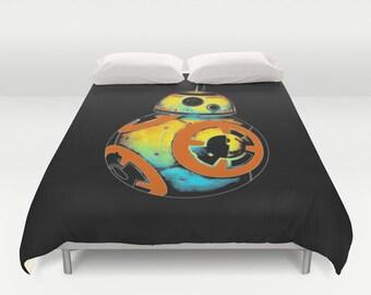 Star Wars The Force Awakens Inspired Pop BB-8 Duvet Cover