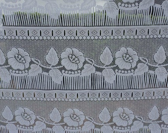 French vintage lace net  window curtain (02853)