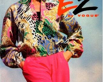 Vintage UNCUT Ultra EZ Vogue Pattern 8616 - Misses Jacket & Shorts - 12-16