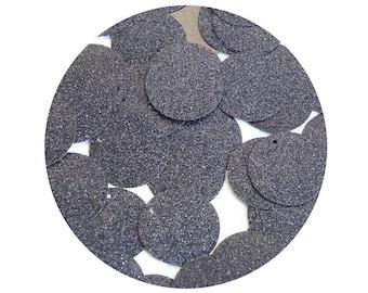 Round Sequin 24mm Midnight Blue Metallic Sparkle Glitter Texture  Loose Couture Paillettes